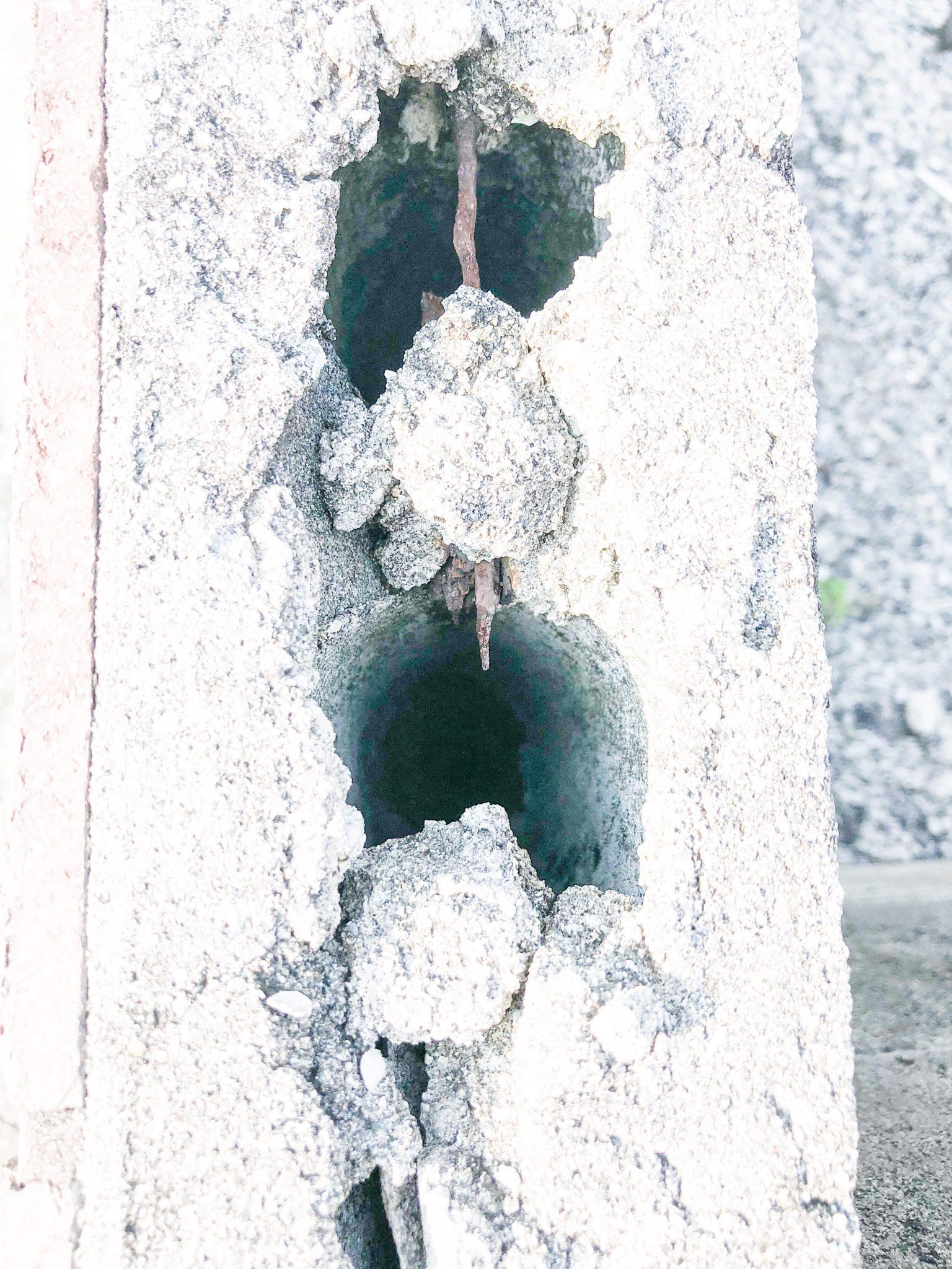 腐食した鉄筋【ブロック塀マニアックス 6】