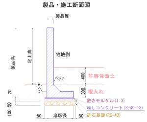 塀のねっこ 標準施工図