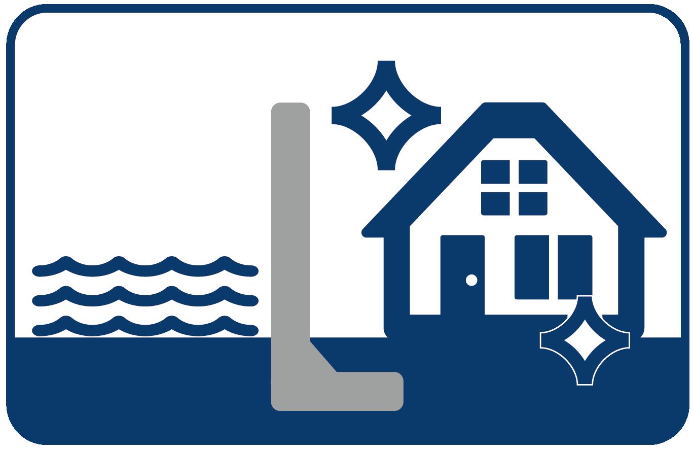コンクリート塀を使った住宅浸水防止の提言
